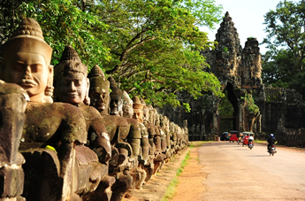 Cambodia Gay Cruise - Angkor Thom Front Gate In Cambodia