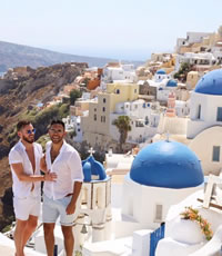 Santorini gay cruise