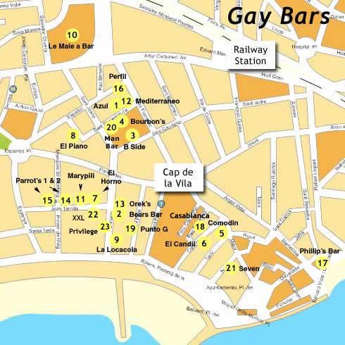 Gay bar map