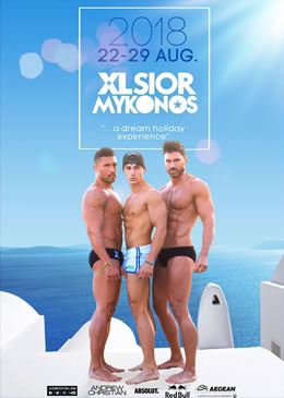 XLSior Mykonos 2018 Gay Holidays
