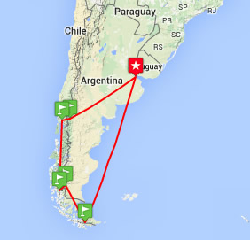 Argentina Chile Gay Tour To The End Of The World Happy Gay - Argentina landforms map